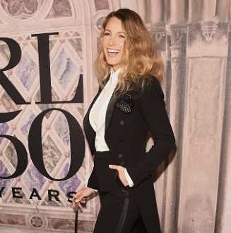 Blake Lively attends the Ralph Lauren 50 Years Show at New York Fashion Week