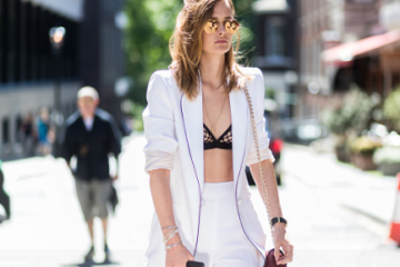 London Fashion Week Suits Street Style