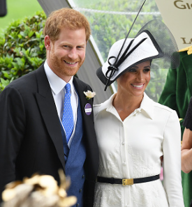 HRH Prince Harry and HRH Megan, The Duchess of Sussex at Royal Ascot Horse Races