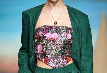 model on the runway at london fashion week